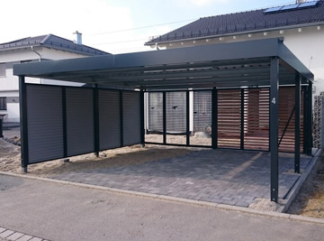 carport xxl hochwertige carport reihenanlagen g nstig kaufen. Black Bedroom Furniture Sets. Home Design Ideas