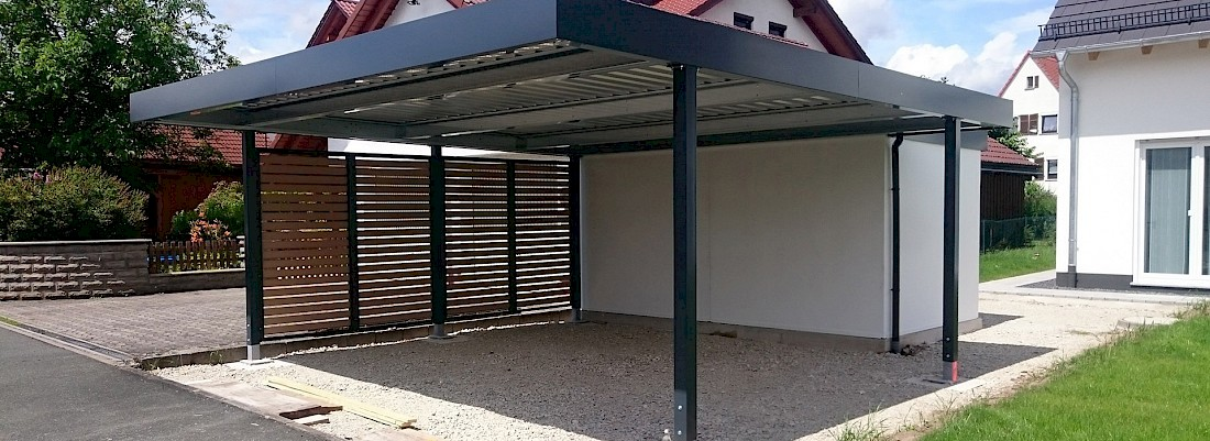 garage mit carport und abstellraum fertig doppelgarage. Black Bedroom Furniture Sets. Home Design Ideas