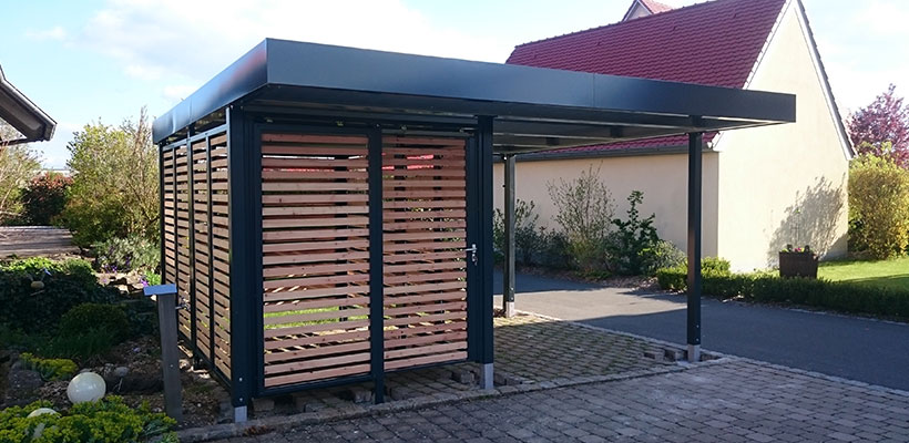carport mit abstellraum doppelcarport mit zus tzlichem platz. Black Bedroom Furniture Sets. Home Design Ideas